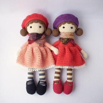 vestidos de muñecas a crochet muy faciles
