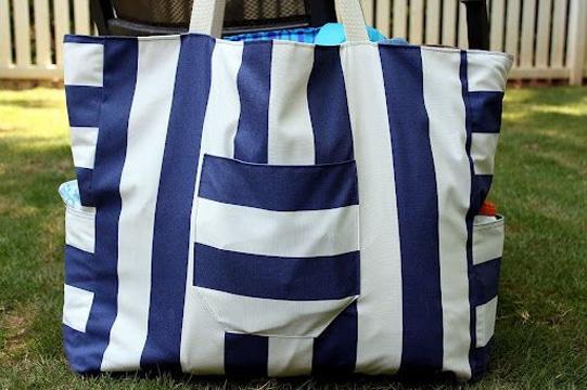bolsos de playa grandes a rayas