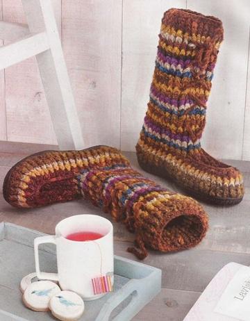 botas tejidas a crochet para mujer altas