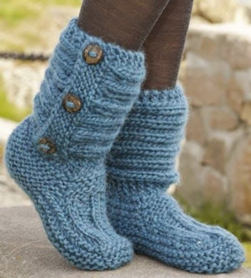 botas tejidas a crochet para mujer casual