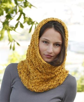 bufanda circular con capucha para mujeres