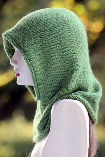 bufanda circular con capucha sencilla