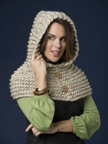 capuchas tejidas a crochet para mujer