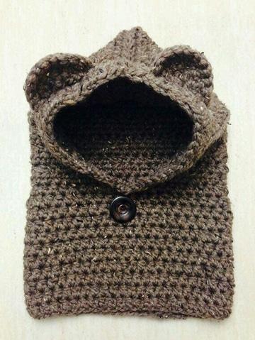 capuchas tejidas a crochet para niños