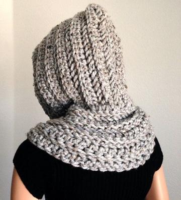 capuchas tejidas a crochet sencillas