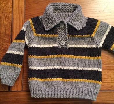 chompas de lana para bebes a rayas