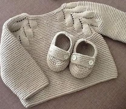 chompas de lana para bebes tejidos