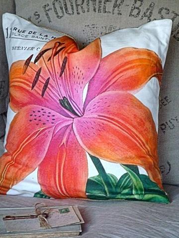 cojines pintados en tela floral