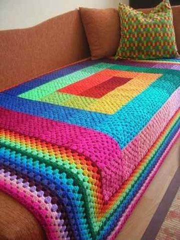 colchas de ganchillo de lana para sofa