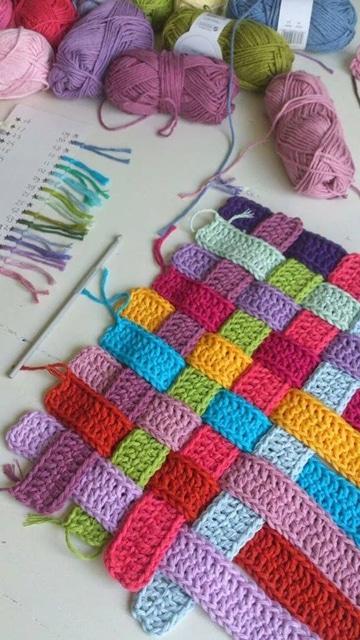 colchas de ganchillo de lana tutorial