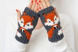 Instrucciones fáciles sobre como hacer mitones a crochet