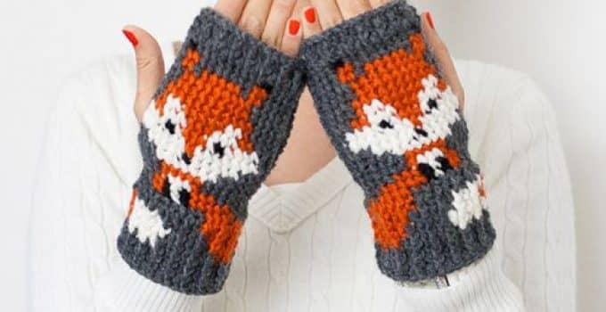 guantes sin dedos tejidos a crochet patrones | Tejidos a crochet ...
