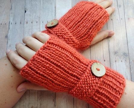 como hacer mitones a crochet femeninos