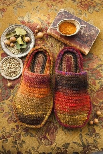 como hacer pantuflas de lana a crochet