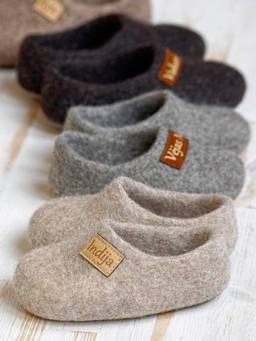 como hacer pantuflas de lana paran niños