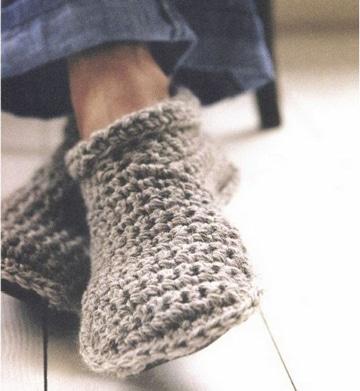 como hacer pantuflas de lana sencillas