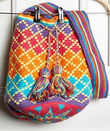 como hacer una mochila wayuu muy lindos