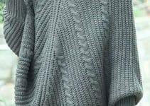 Formas fashion de como tejer un poncho a dos agujas de mujer