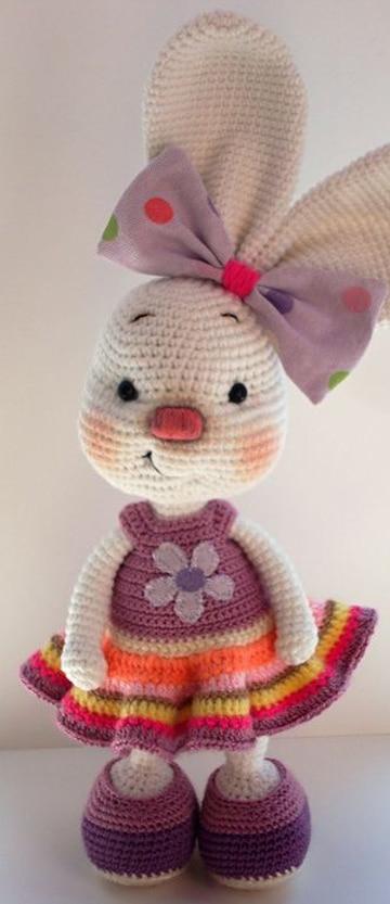 conejo tejido a crochet decorativos