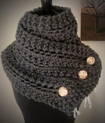 cuellos de punto originales de lana