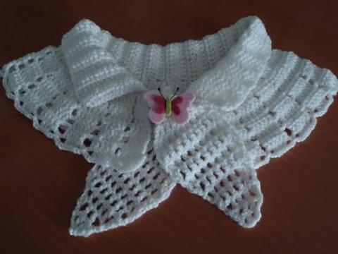 cuellos tejidos a crochet para vestidos de niña