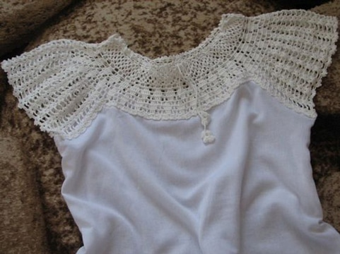 cuellos tejidos a crochet para vestidos sencillos