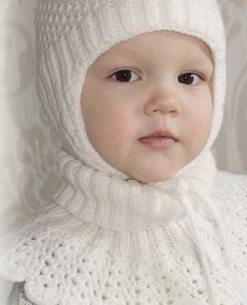 cuellos tejidos para niña blancos