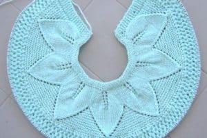 Hermosos cuellos tejidos para niña en crochet y dos agujas