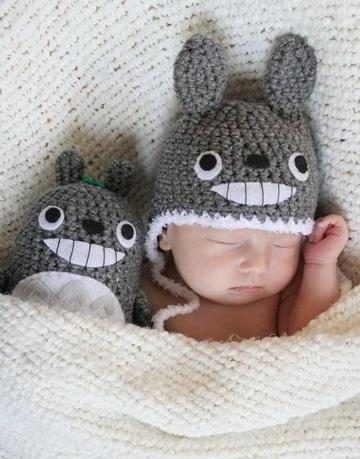 gorros al crochet para bebes tiernos