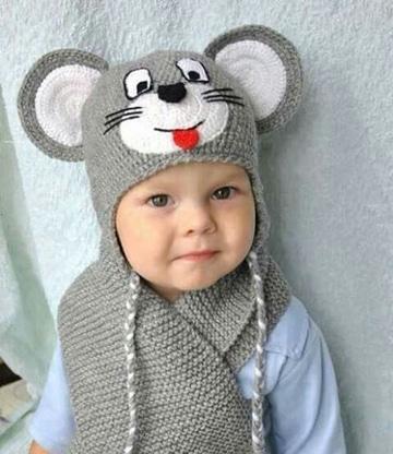 diseño atemporal 19bb6 be14e Los gorros con bufanda tejidos como ingenio del crochet