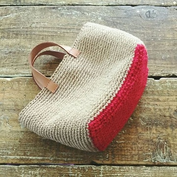imagenes de bolsas tejidas diseño sencillo