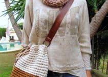 Mira unas imagenes de bolsas tejidas para mujeres a la moda