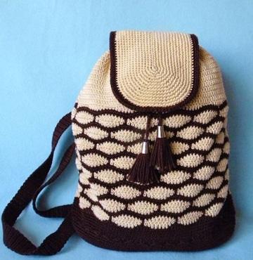 imagenes de mochilas tejidas para escolares