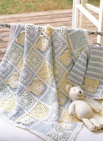 mantas de ganchillo de lana para bebes