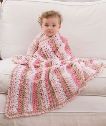 mantas de ganchillo de lana para niñas
