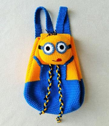 mochilas infantiles a crochet de personajes