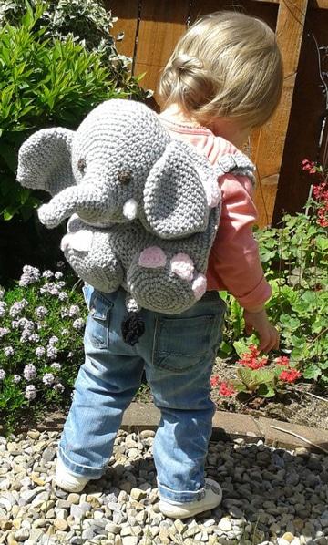 mochilas infantiles a crochet para niñas