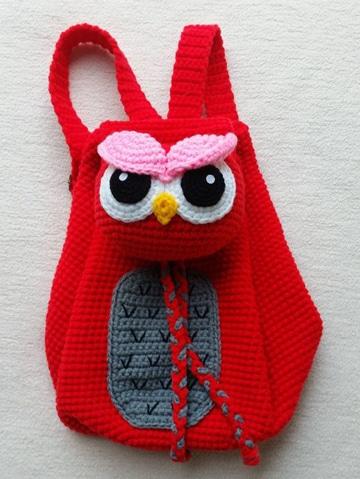 mochilas infantiles a crochet para regalar