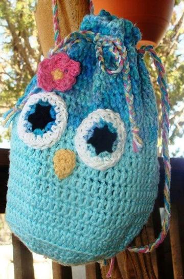mochilas tejidas a crochet para niños super lindos