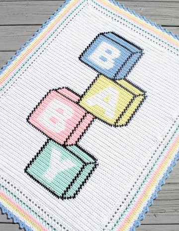 modelos de colchas tejidas a crochet para bebe