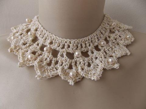 modelos de cuellos tejidos a crochet