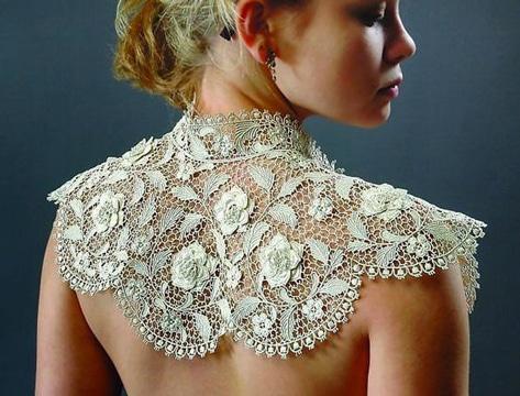 modelos de cuellos tejidos delicados