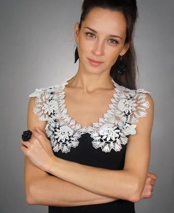 modelos de cuellos tejidos para blusas