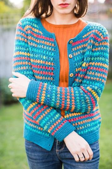 modelos de sacos de lana para mujer de colores