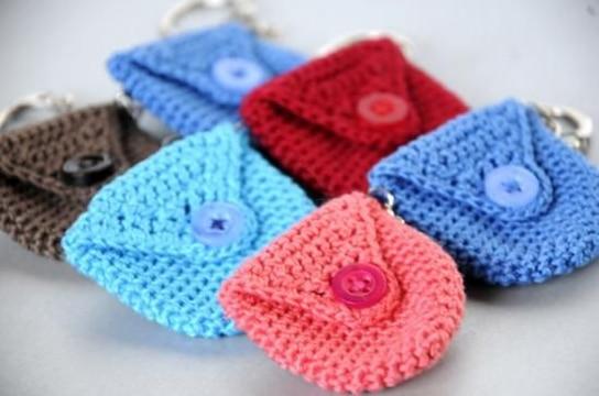 monederos a crochet paso a paso pequeños