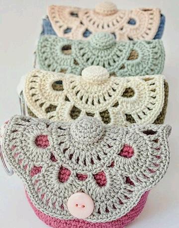 monederos a crochet paso a paso super lindos