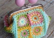 Los monederos de ganchillo cuadrados son un tesoro a crochet