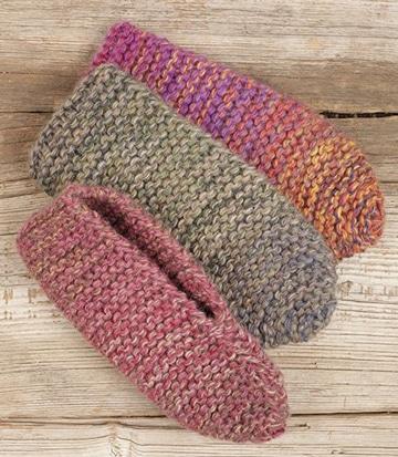 pantuflas tejidas a gancho de colores