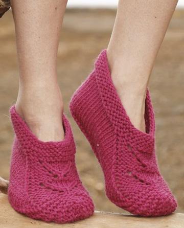 pantuflas tejidas a gancho de mujer