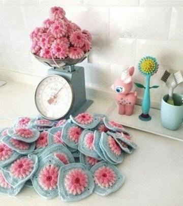pastillas a crochet para colchas super lindas